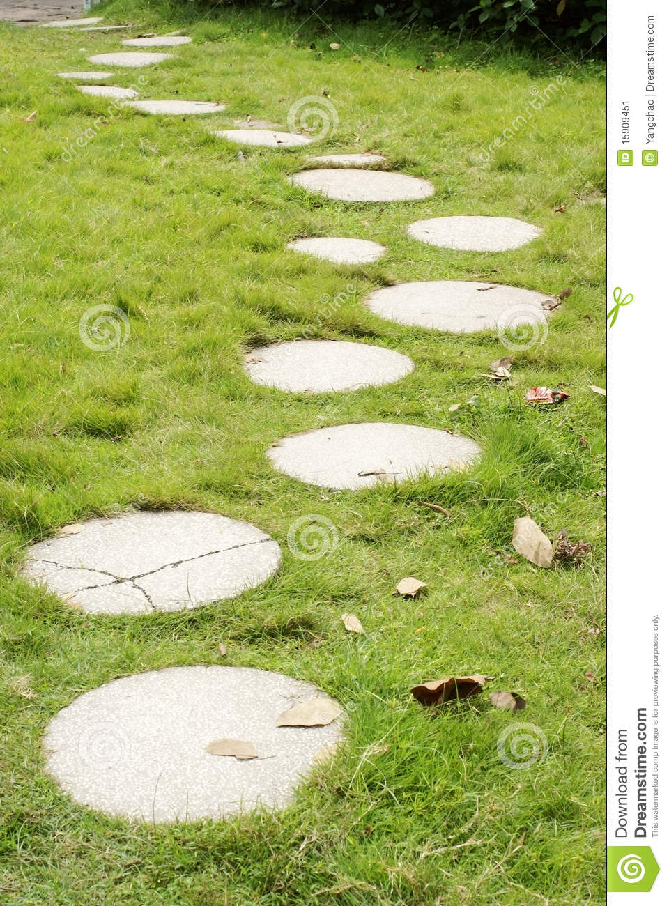 Grass Lawn With Steps Stock Image Image 15909451