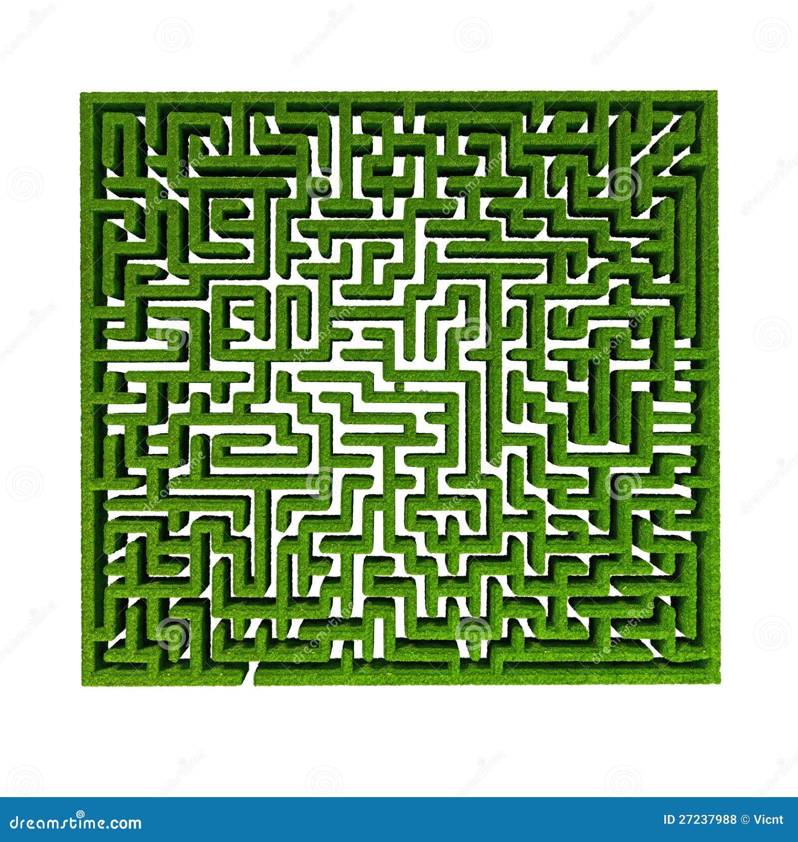 Download Grass maze stock illustration. Illustration of idea, france - 27237988