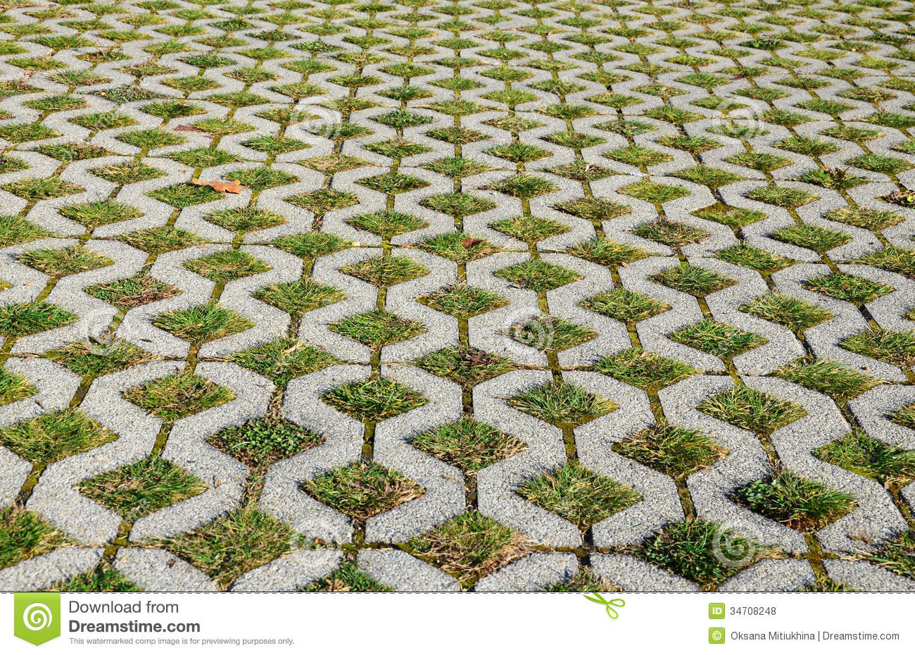 Grass Pavement Royalty Free Stock Photos Image 34708248