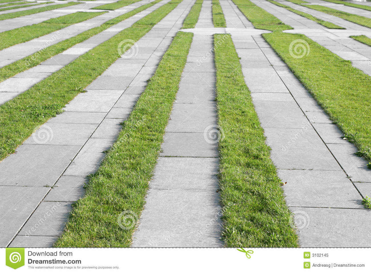 Grass Pavement Strips Royalty Free Stock Photo Image  : grass pavement strips 3102145 from www.dreamstime.com size 1300 x 957 jpeg 223kB