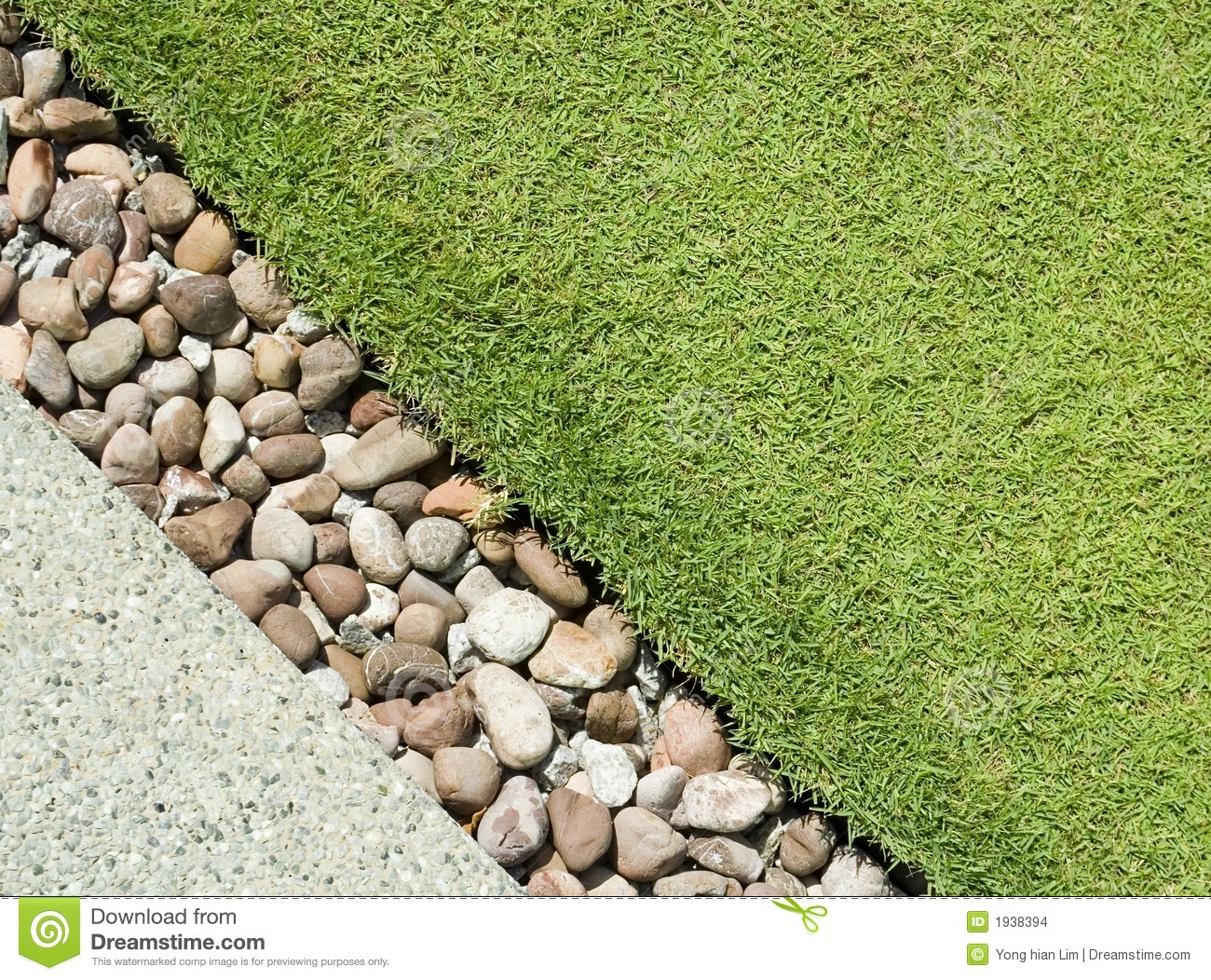 Grass Pebbles And Stone Stock Photo Image Of Garden