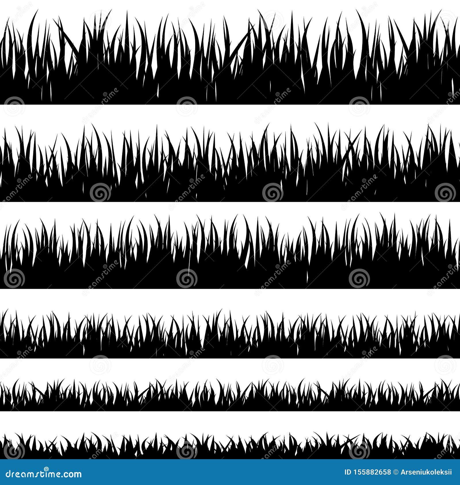Grass black silhouette.