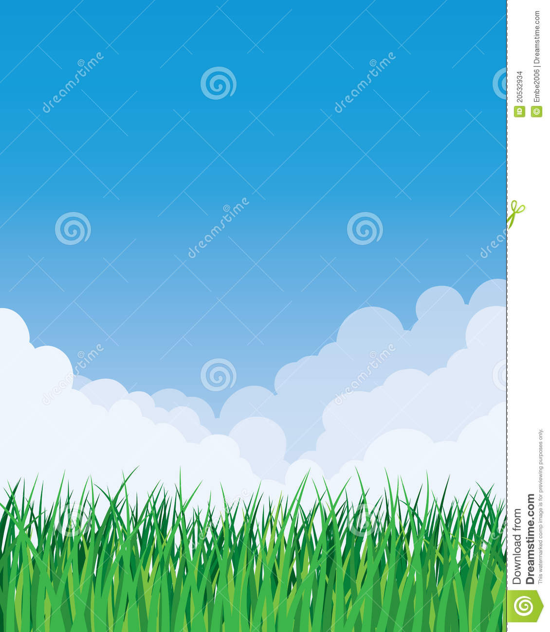 Grass And Sky Background Stock Vector Illustration Of Peaceful