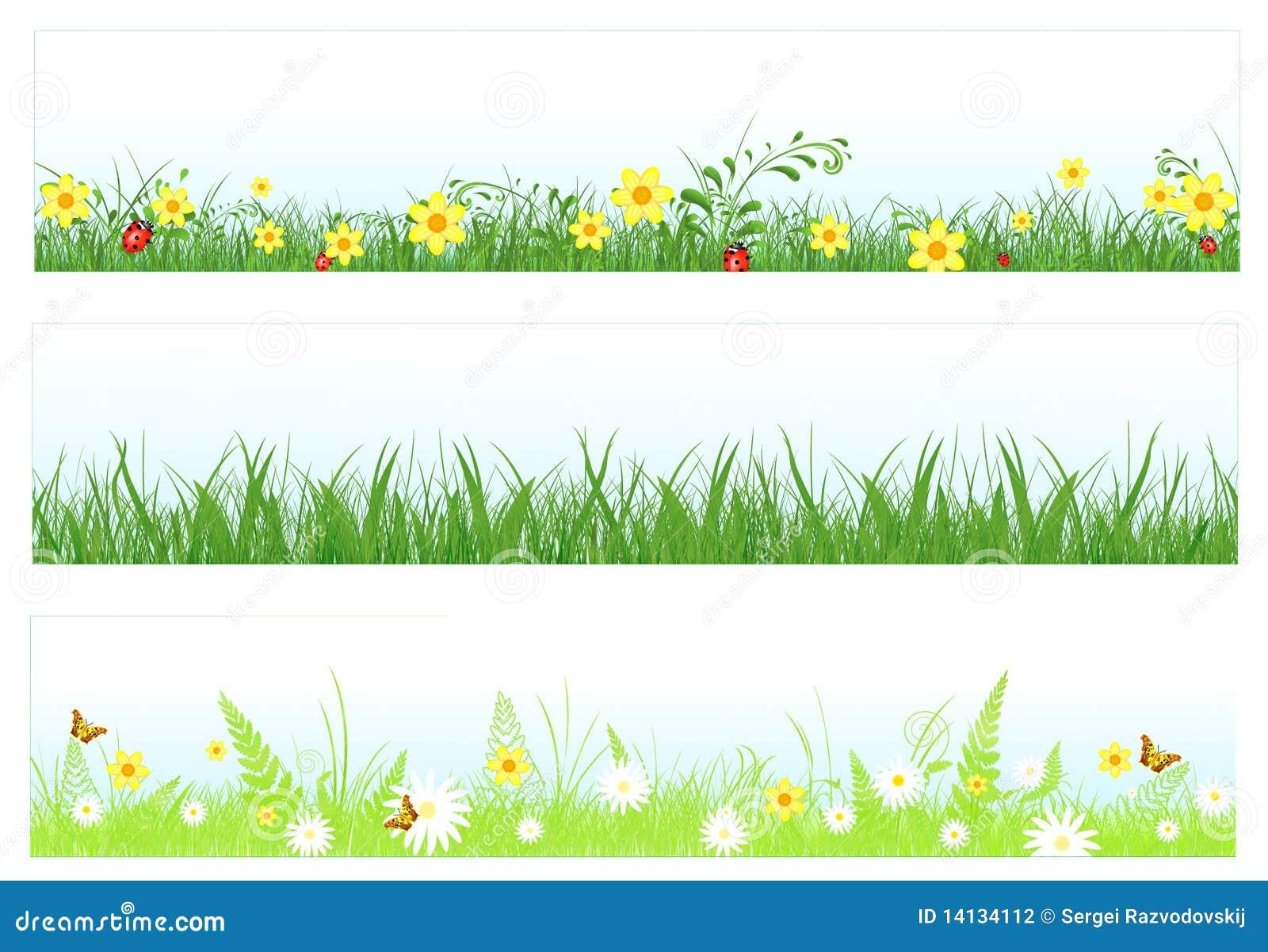 grass web banners stock vector illustration of fresh