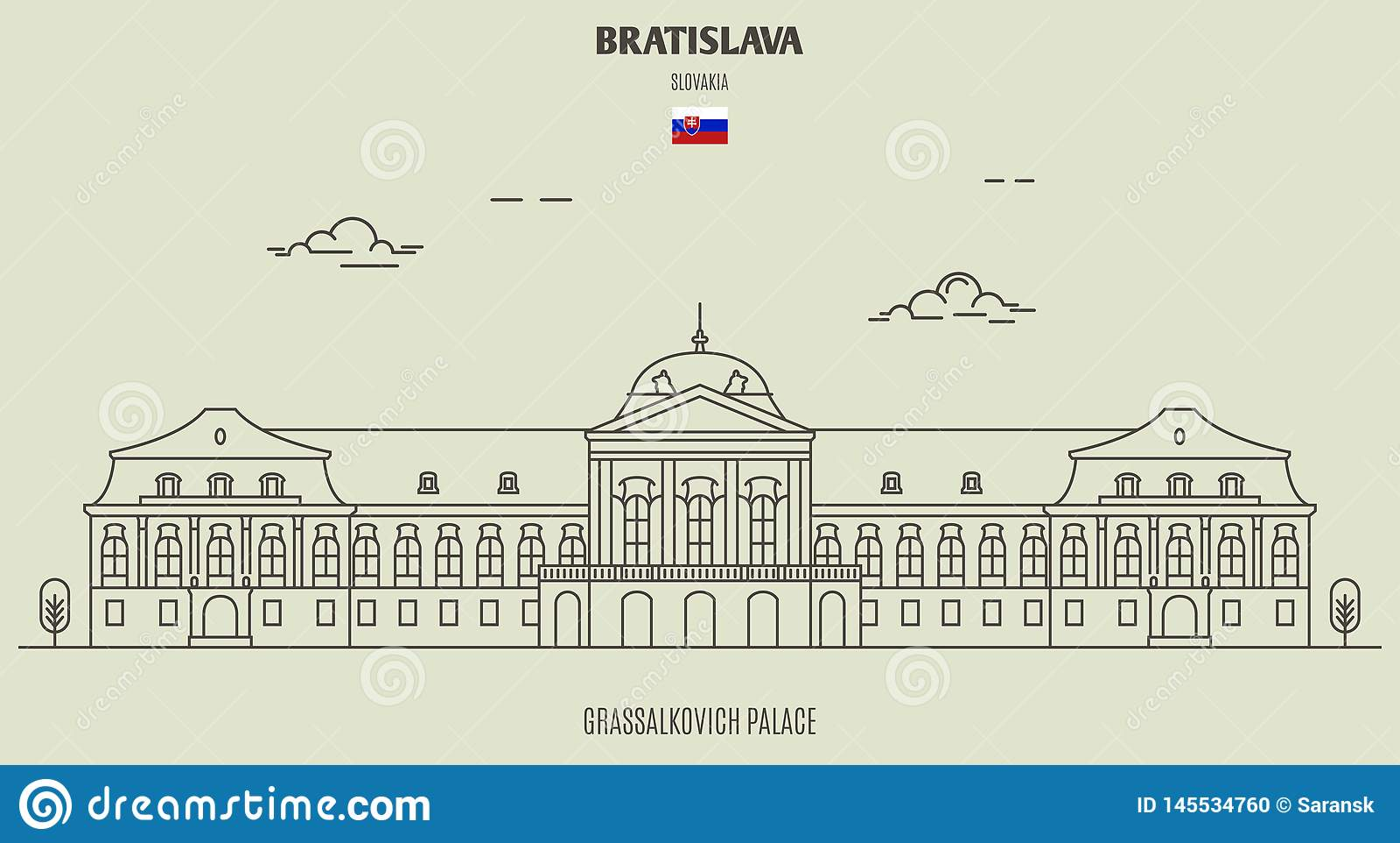 Grassalkovich Palace, Bratislava, Slovakia. Landmark Icon ...