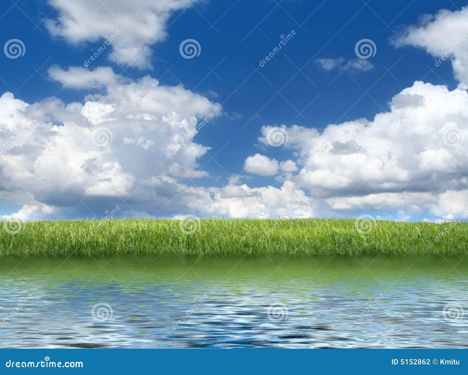 grassfield绿色湖边