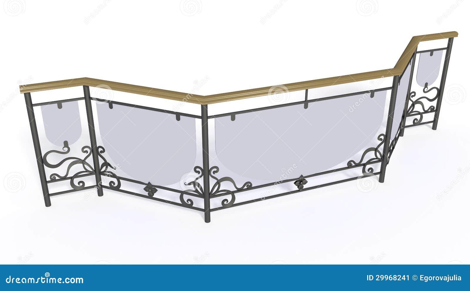 Grata delle scale del ferro battuto immagine stock - Prezzi scale in ferro ...