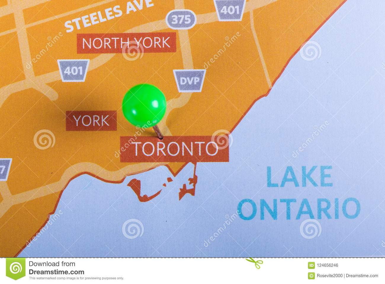 Map Of Canada Toronto Ontario.Grater Toronto Area With Lake Ontario Map Stock Photo Image Of