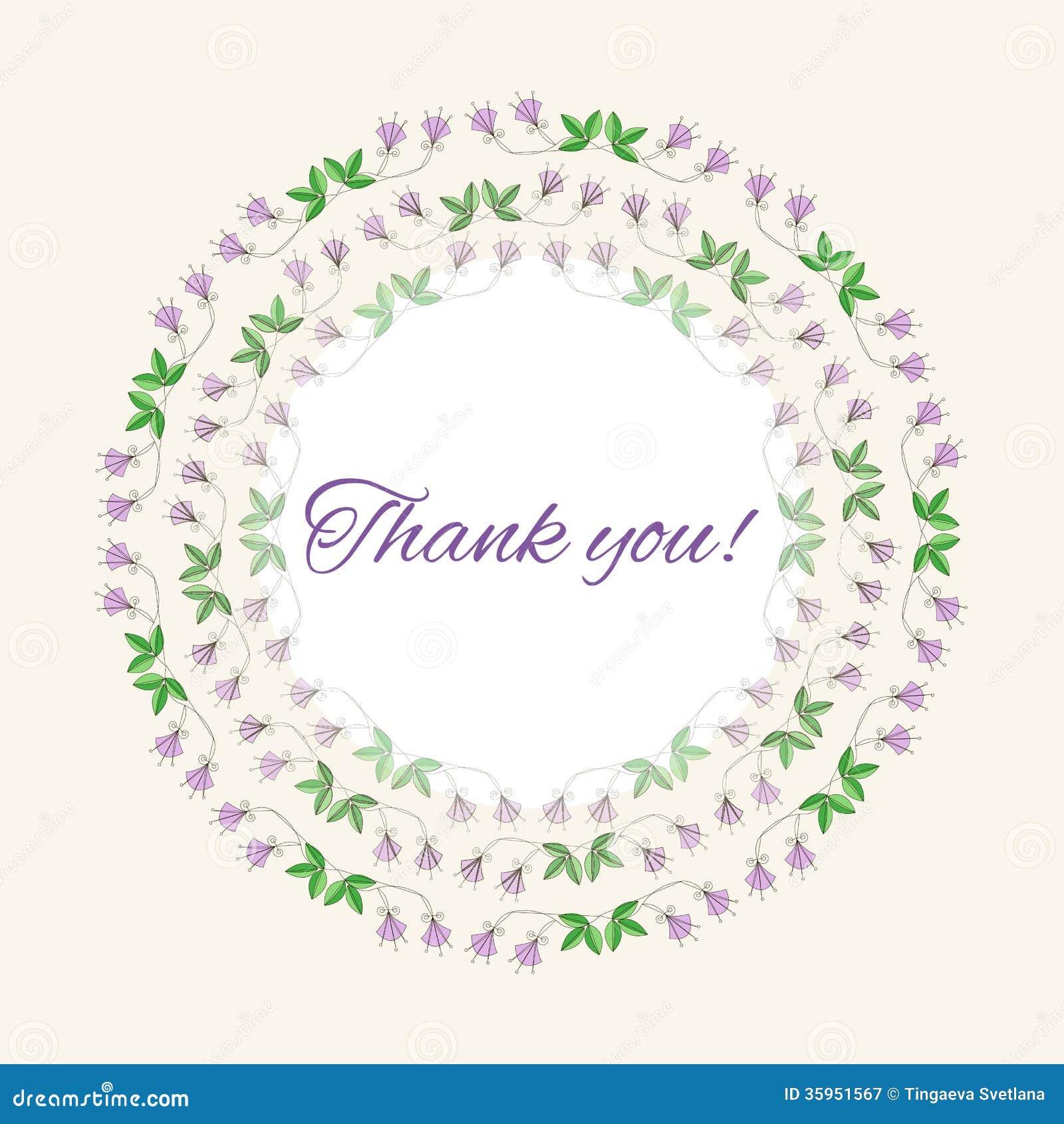 Gratitud de la postal con las flores y la luz románticas
