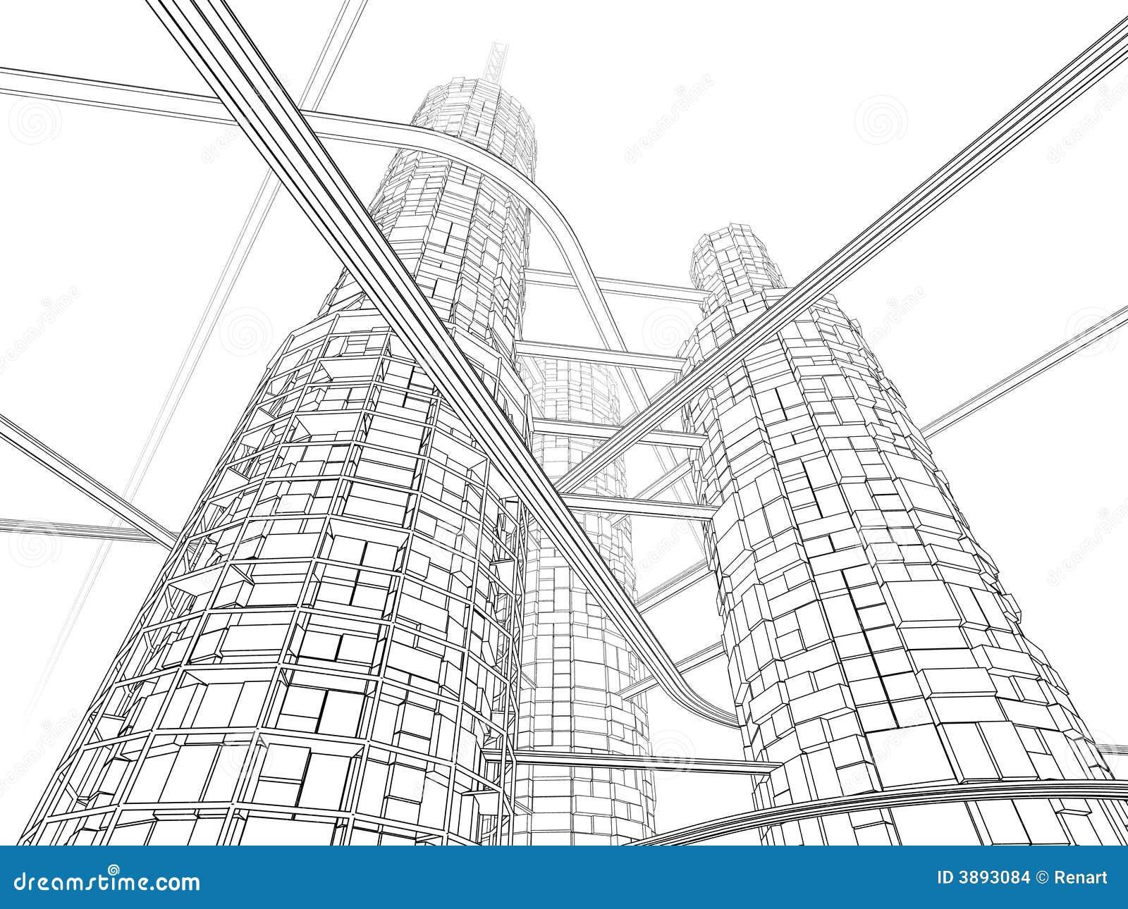 Grattacielo futuristico di industria