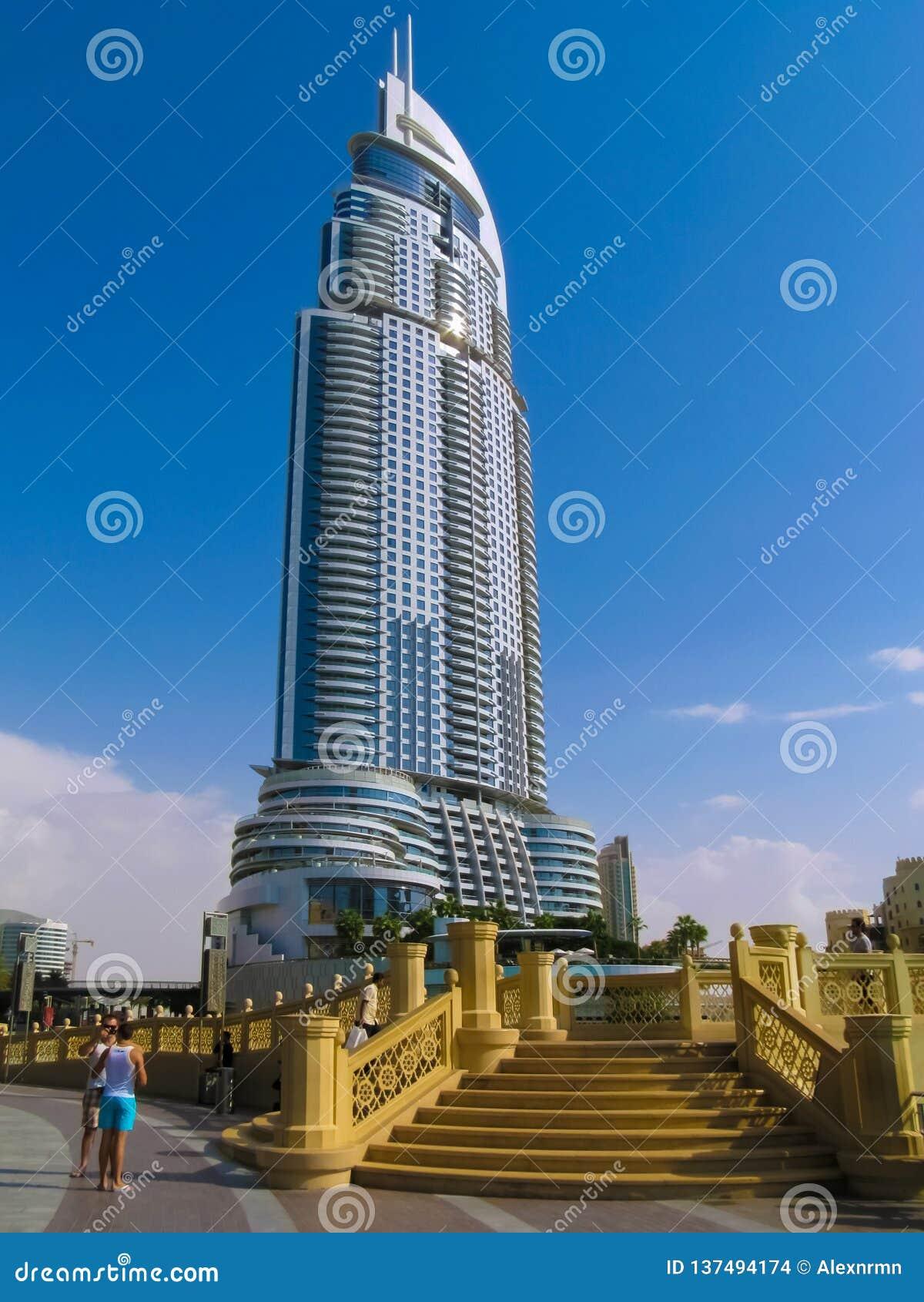 Gratte-ciel dans le centre ville Burj Dubaï d adresse de Dubaï