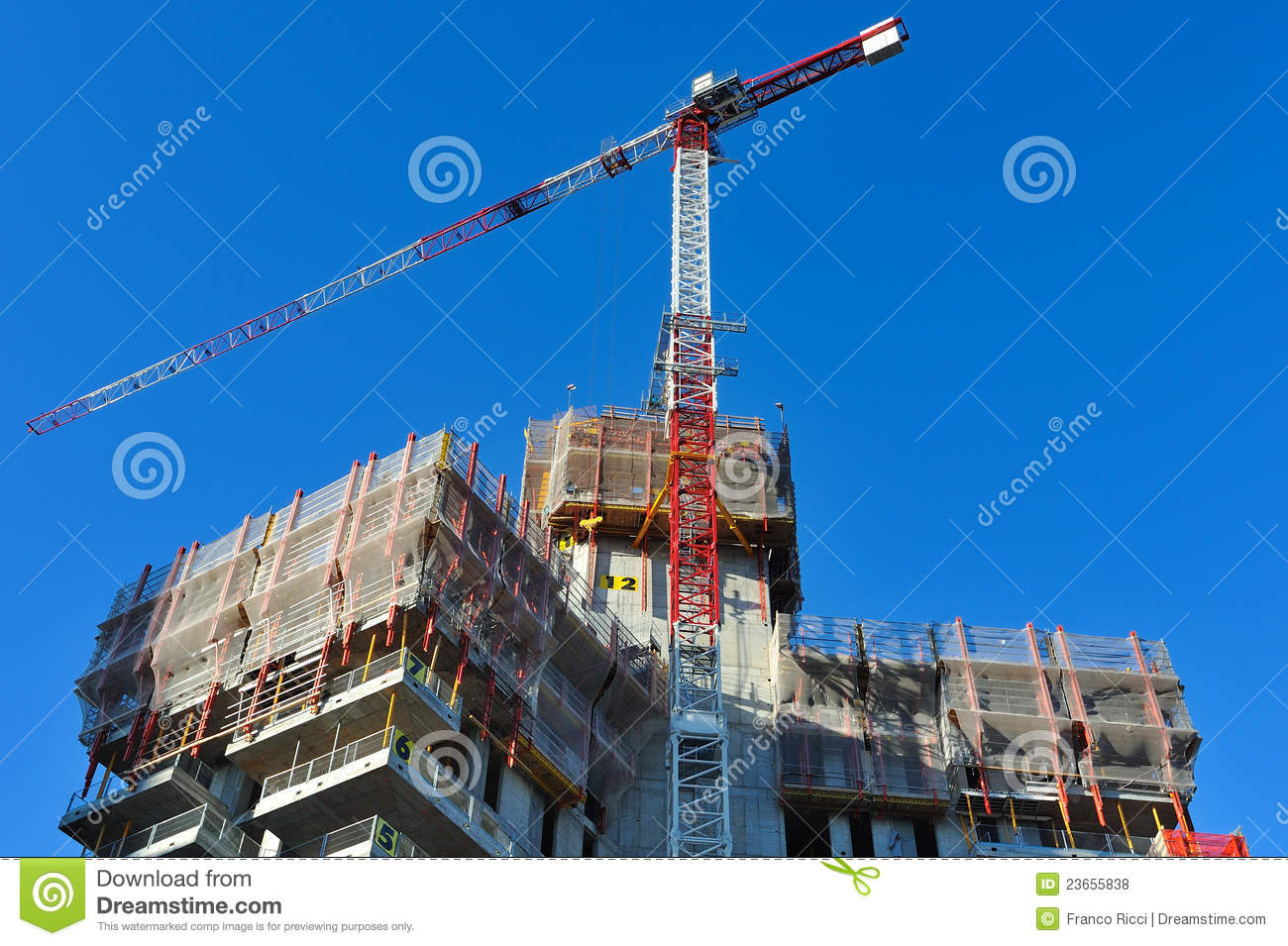 Gratte ciel neuf de milan en construction photo stock ditorial image 2365 - Construction gratte ciel ...