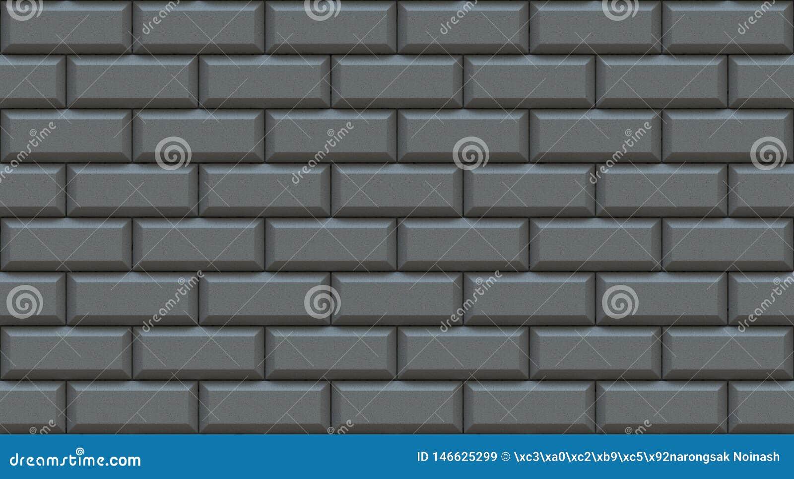 Graue Backsteinmauerrechtecke mit abgeschrägtem Rand Leerer Hintergrund Weinlese legen Steine in den Weg Raumdesigninnenraum