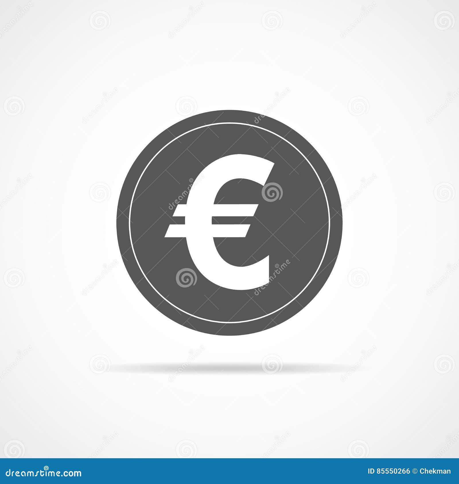 Graue Eurowährungsikone Auch im corel abgehobenen Betrag