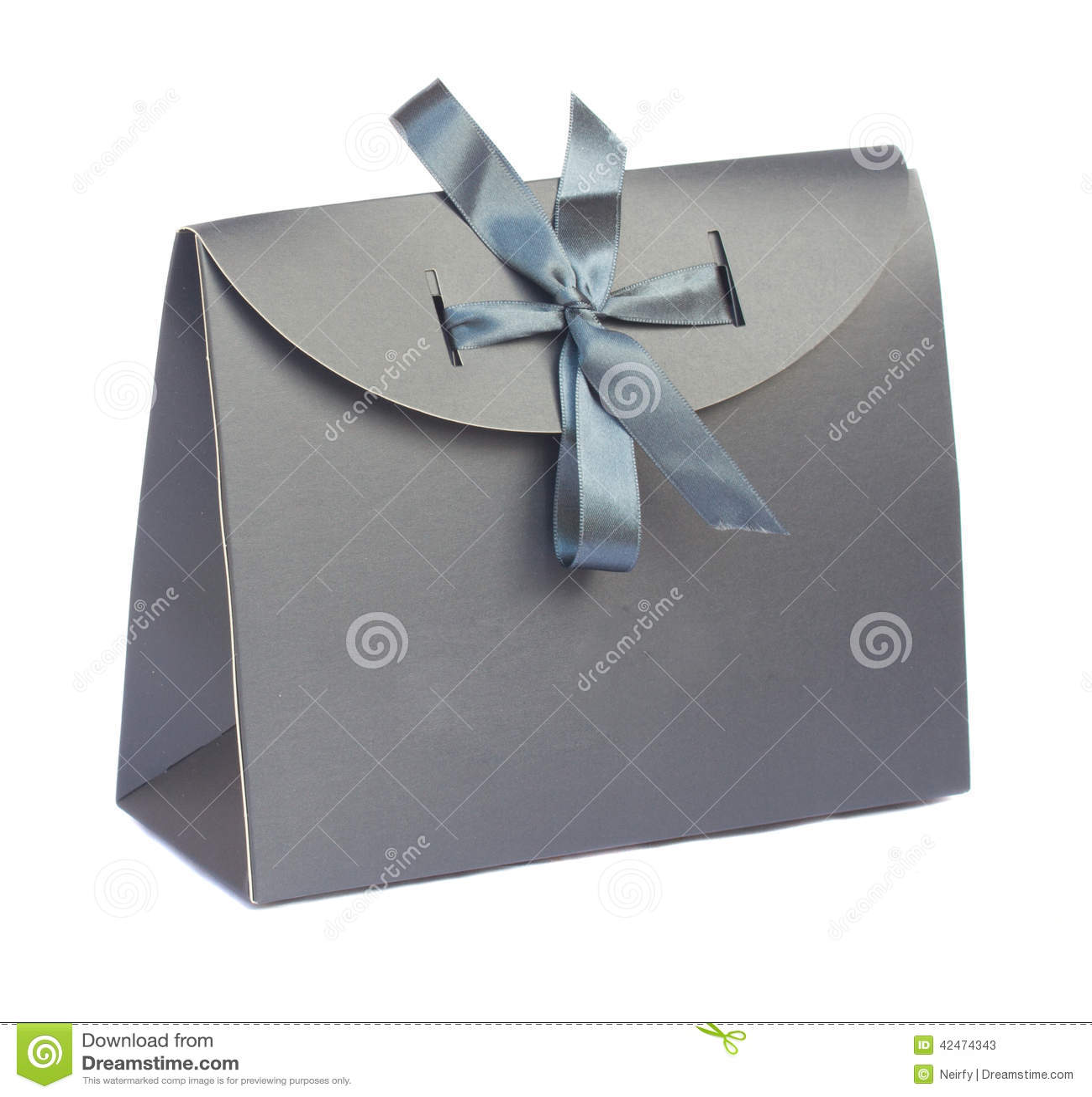 Graue Geschenktasche
