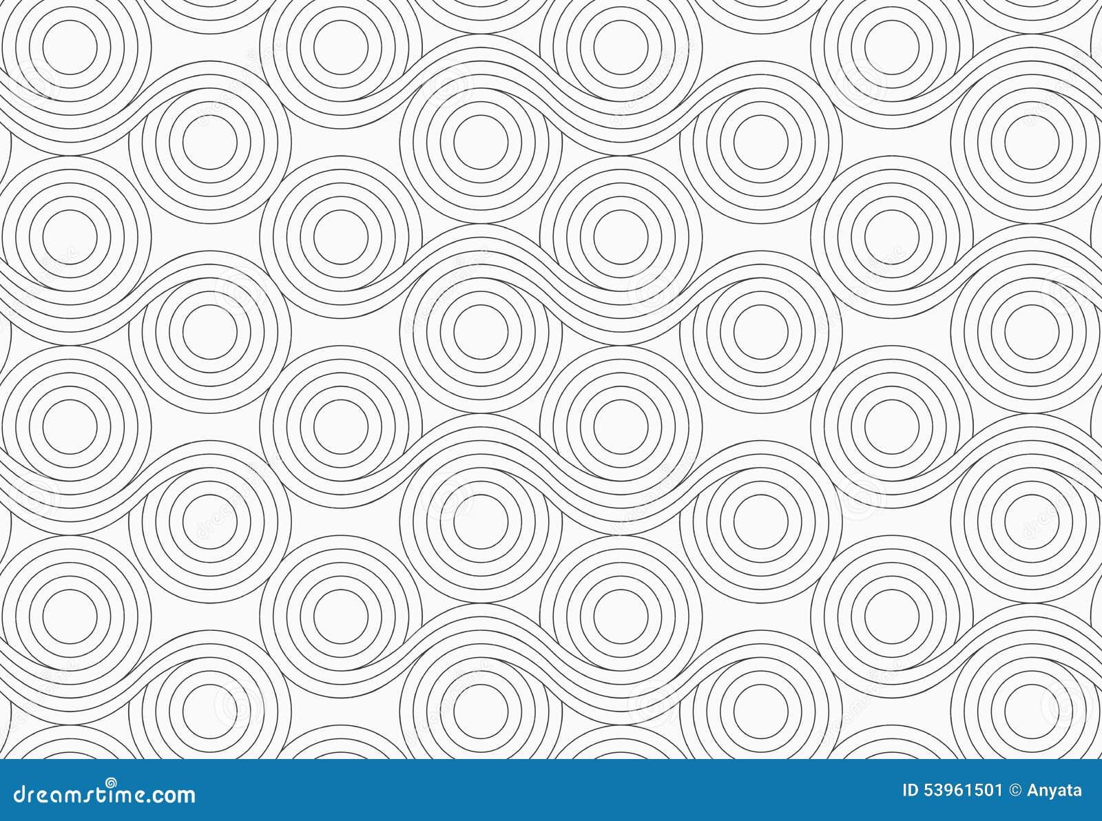 graue kreise mit gewellten linien mischen vektor abbildung