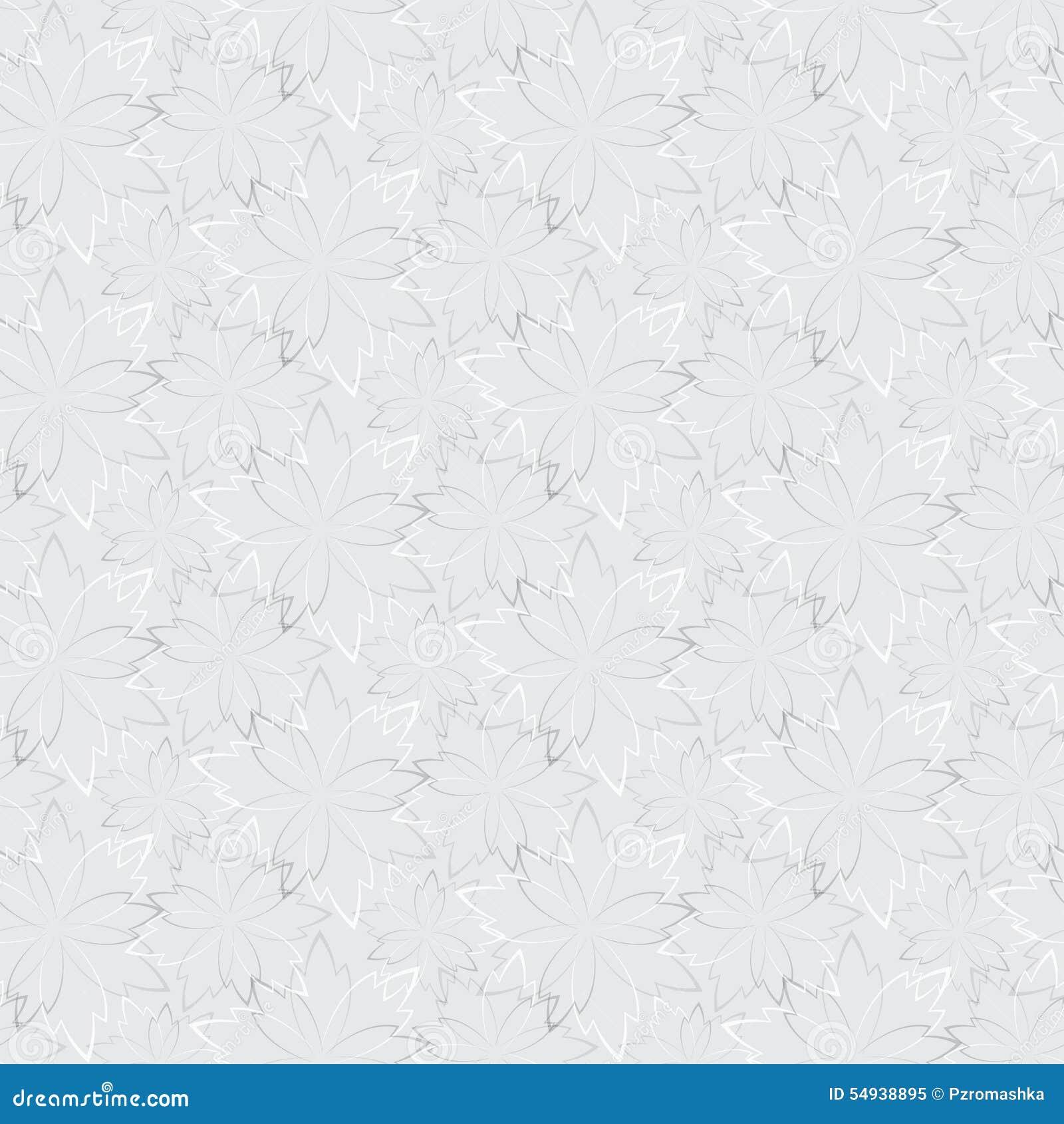 Graue nahtlose tapete mit blumenmuster vektor abbildung for Graue tapete