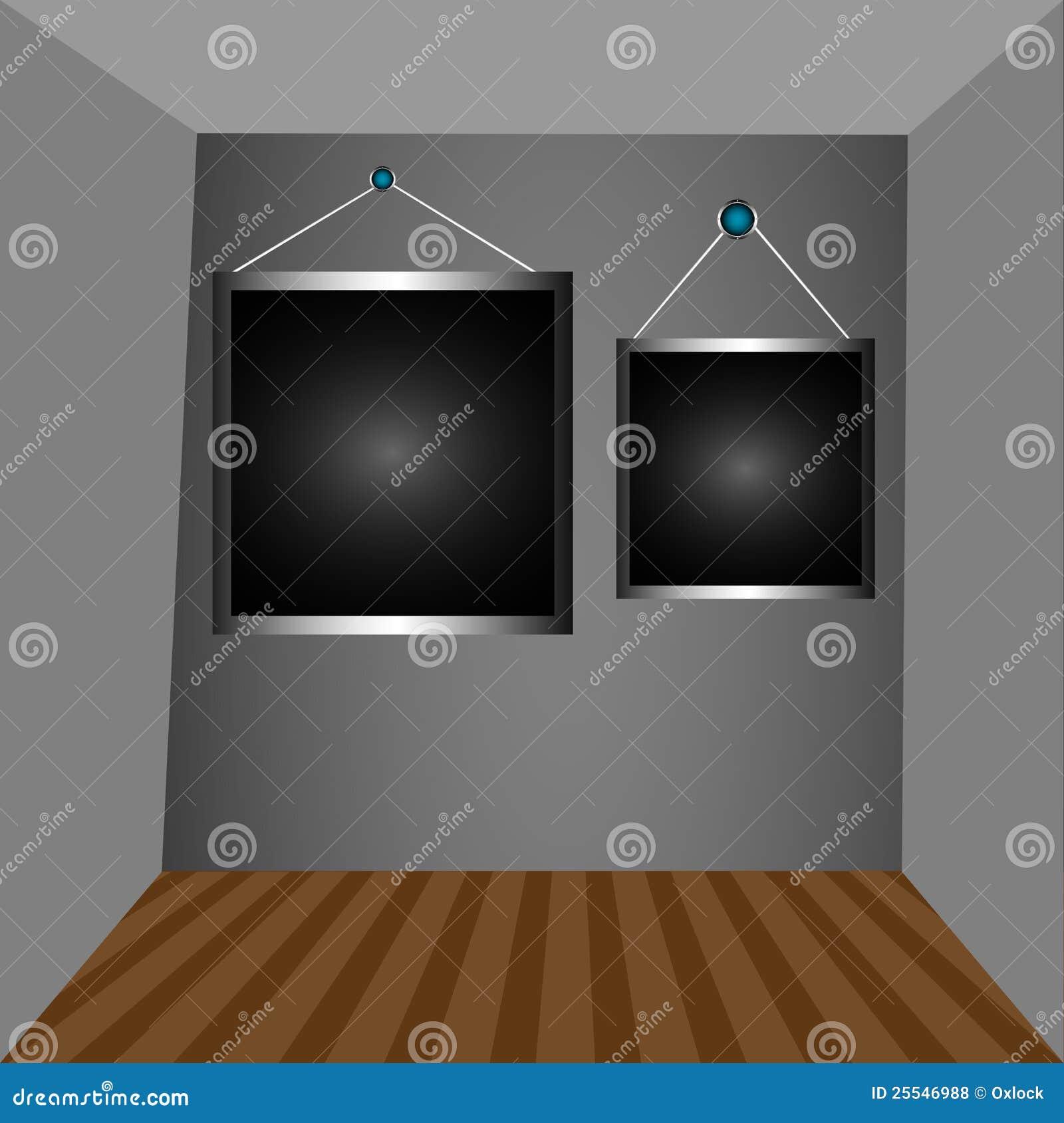 graue w nde und dunkle felder lizenzfreie stockfotos. Black Bedroom Furniture Sets. Home Design Ideas