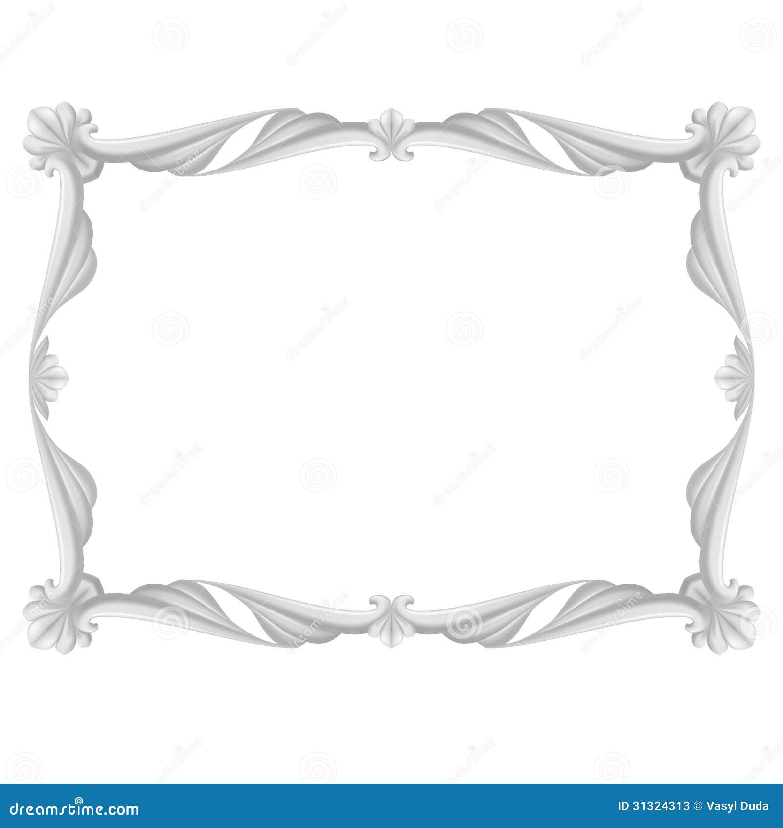 grauer rahmen vektor abbildung illustration von spitze 31324313. Black Bedroom Furniture Sets. Home Design Ideas