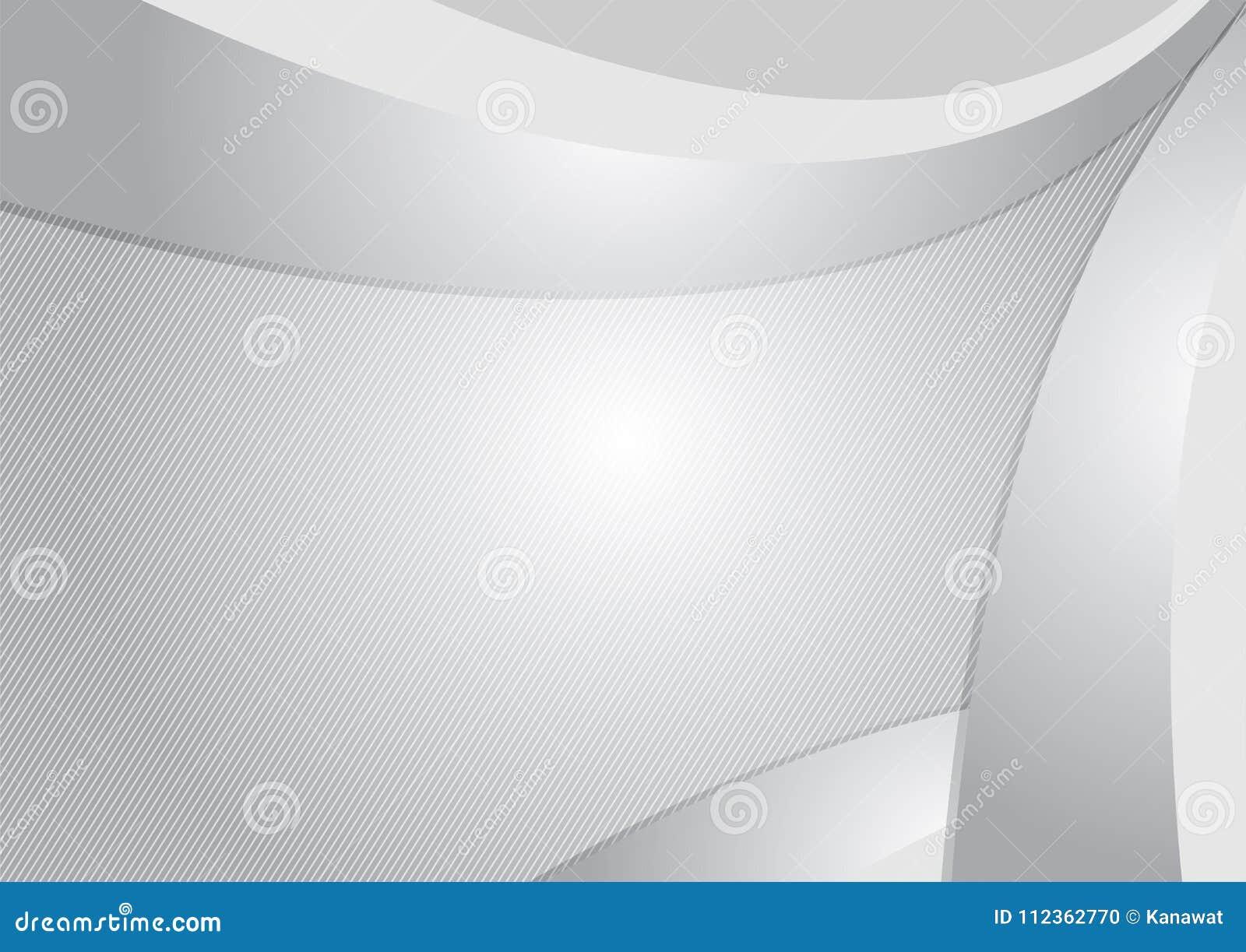 Grauer und weißer moderner futuristischer geometrischer abstrakter Vektorhintergrund mit Kopienraum