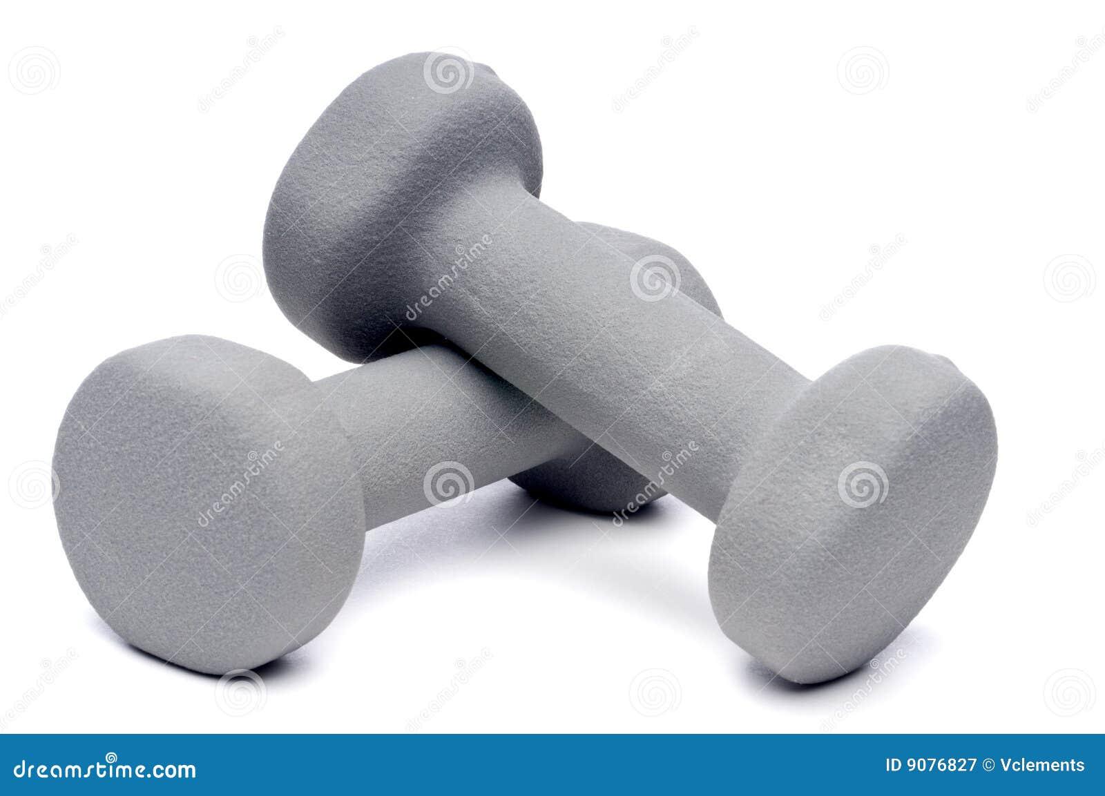 Graues dumbell geben Gewichte frei