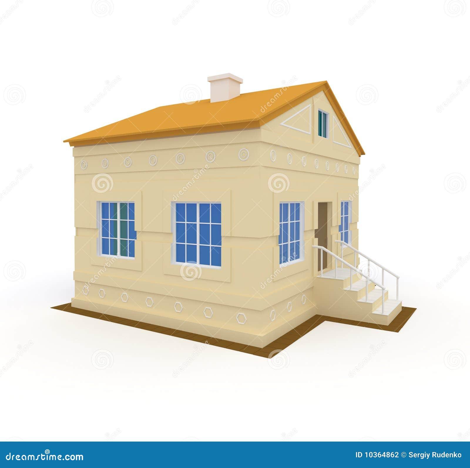 graues haus mit blauen fenstern stockfotografie bild 10364862. Black Bedroom Furniture Sets. Home Design Ideas