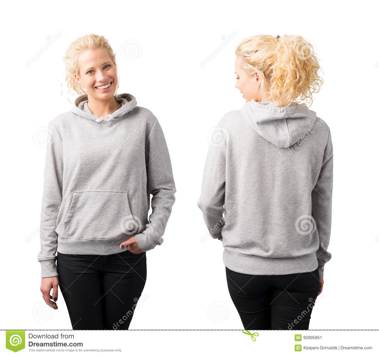 Graues Pullover Hoodiemodell