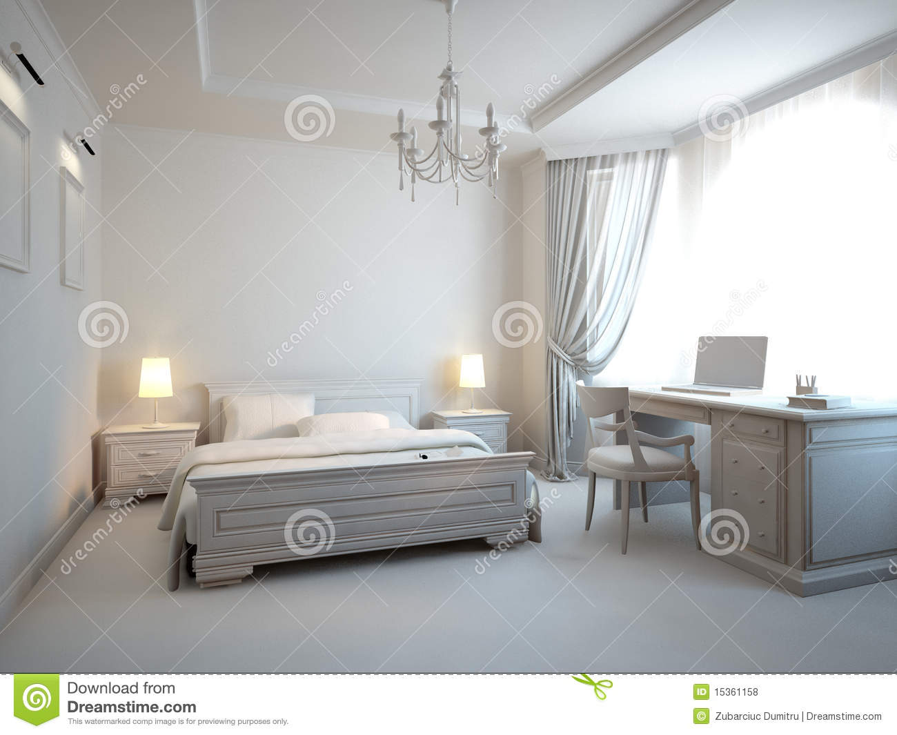 graues schlafzimmer lizenzfreie stockfotos bild 15361158. Black Bedroom Furniture Sets. Home Design Ideas