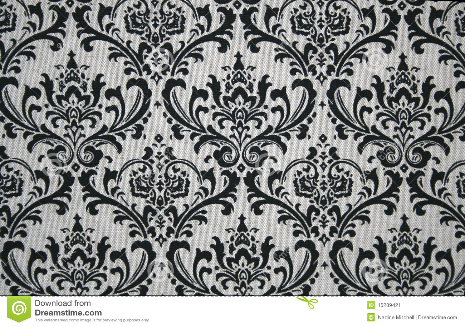 Graues und schwarzes Damast-Muster