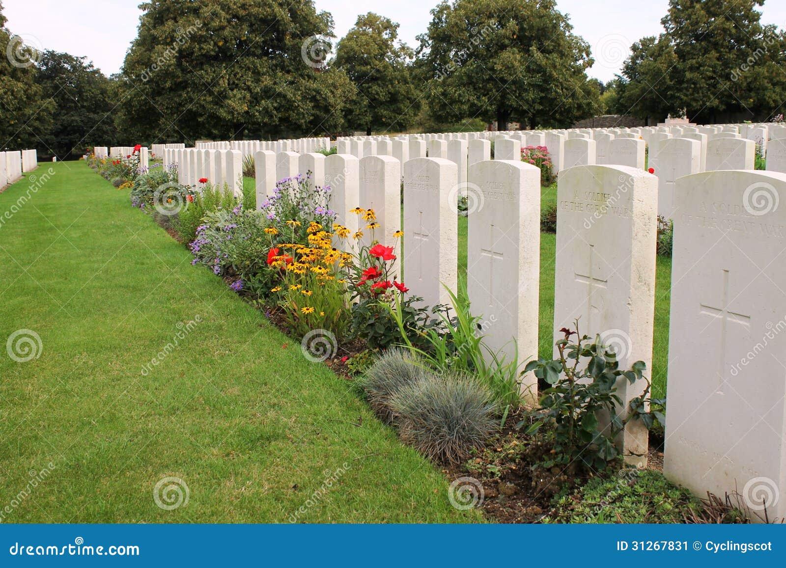 Gravar av oidentifierade soldater i Loosbrittkyrkogård