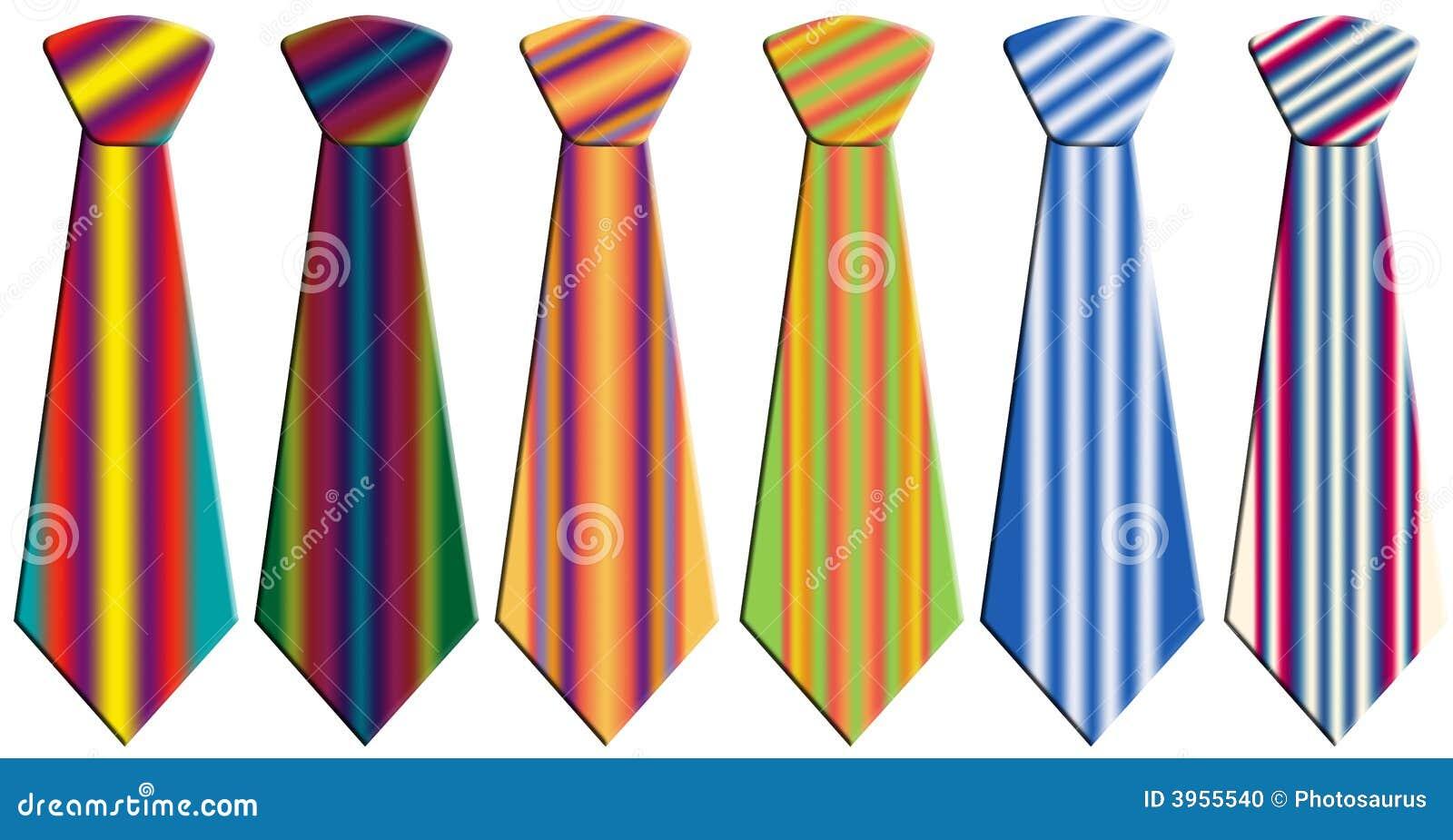 Gravatas coloridas ilustração stock. Ilustração de coloridas - 3955540