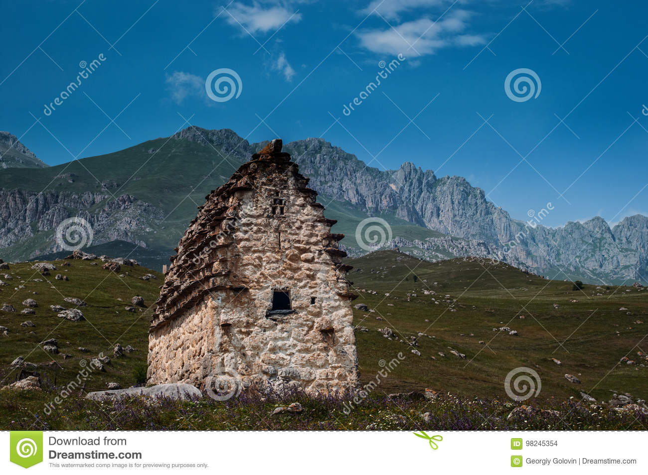 grave mausoleums of alans north ossetia alania stock photo image