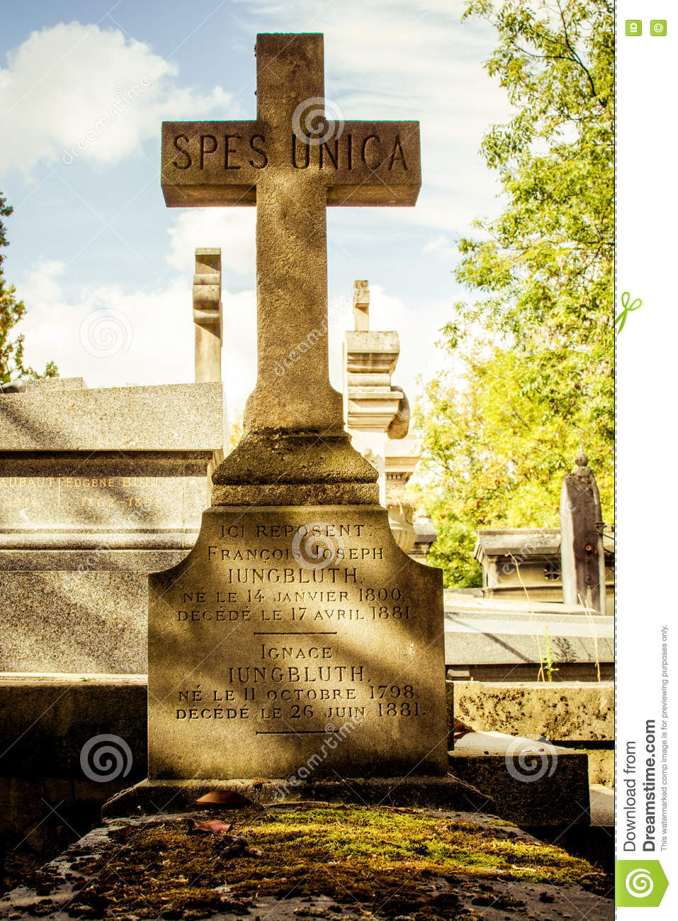 Grave At Pere Lachaise Cemetry Paris Editorial Photography - Image on