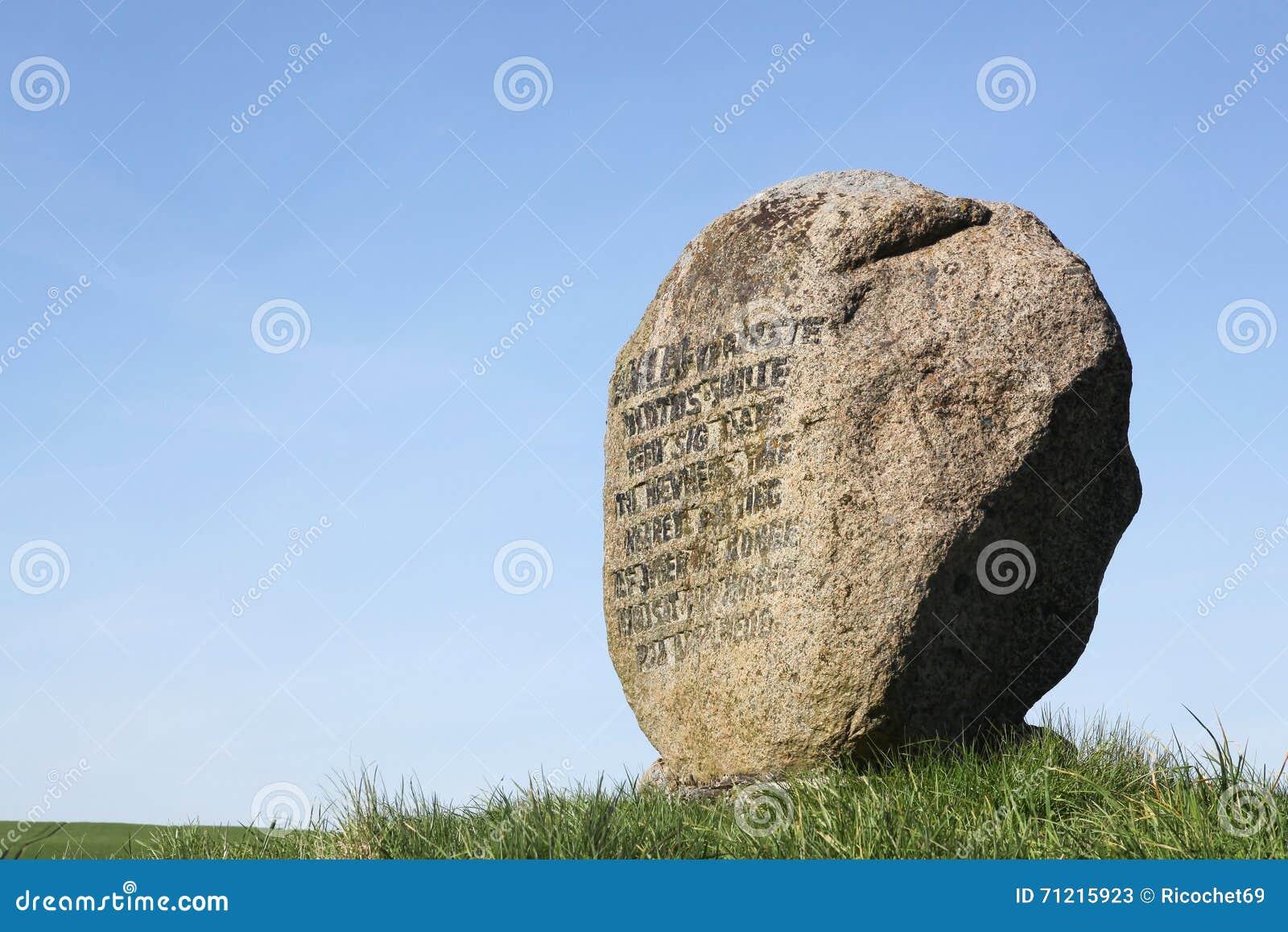 Grave of the Prince Hamlet in Ammelhede, Denmark