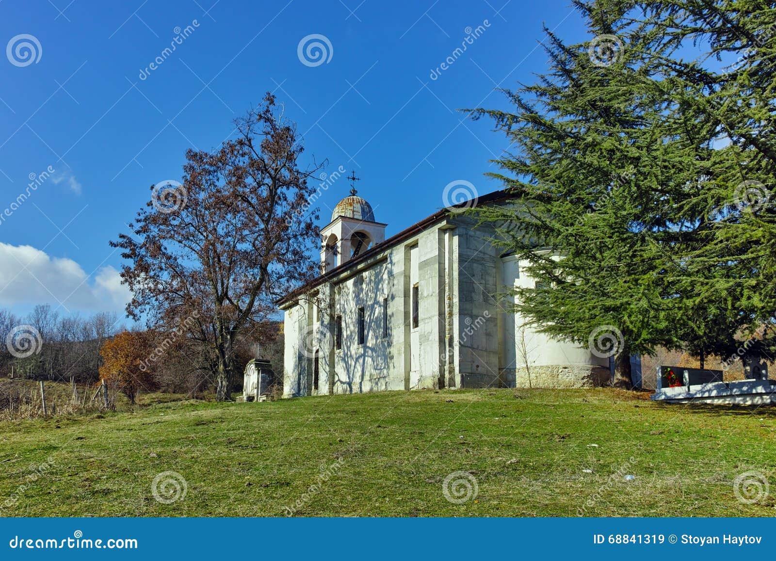 The grave of Yane Sandanski and old church near Rozhen Monastery, Bulgaria