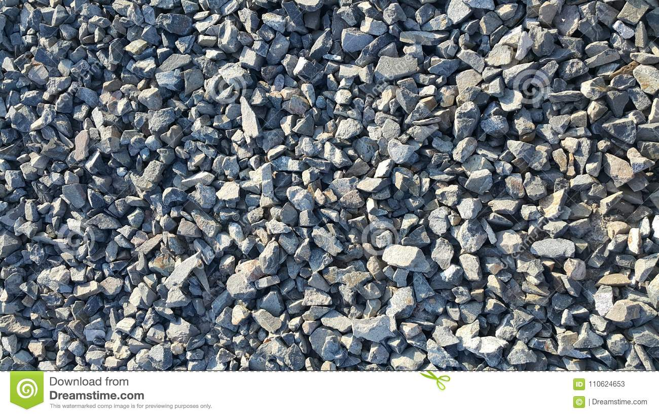 Gravel or blue stones crushed