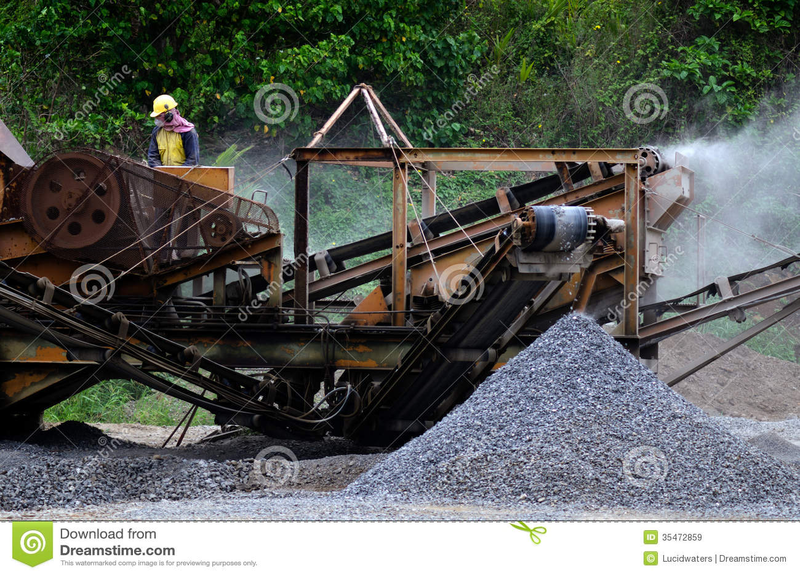 gravel machine