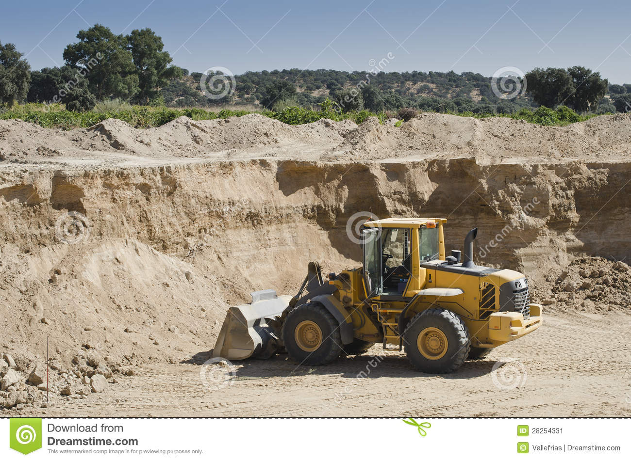 gravel pit stock image image 28254331