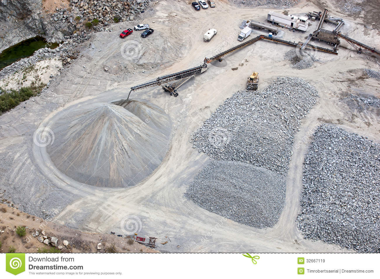 Gravel Pit Royalty Free Stock Images - Image: 32667119