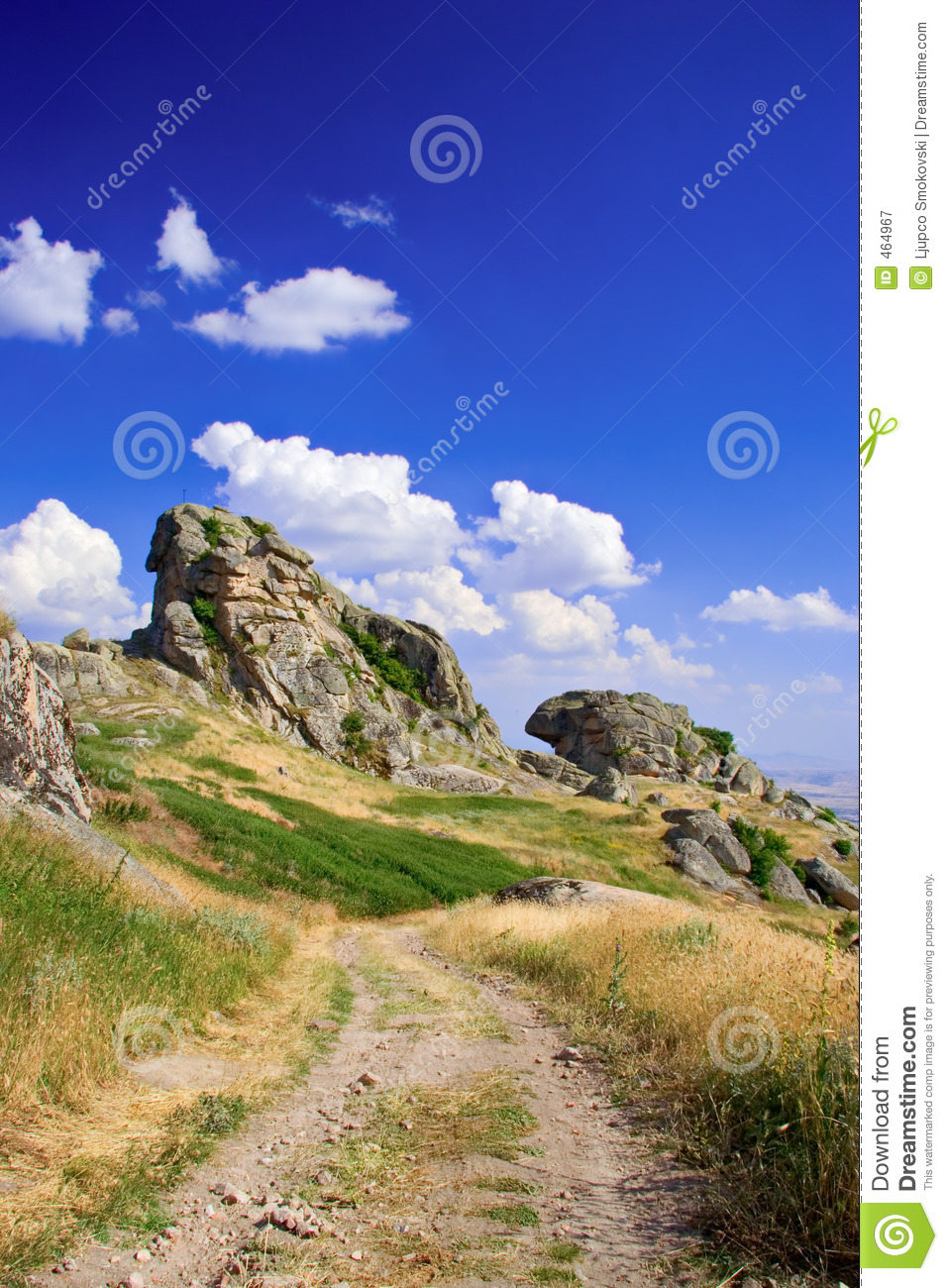 Download Gravel road and rocks stock image. Image of blue, dirt - 464967