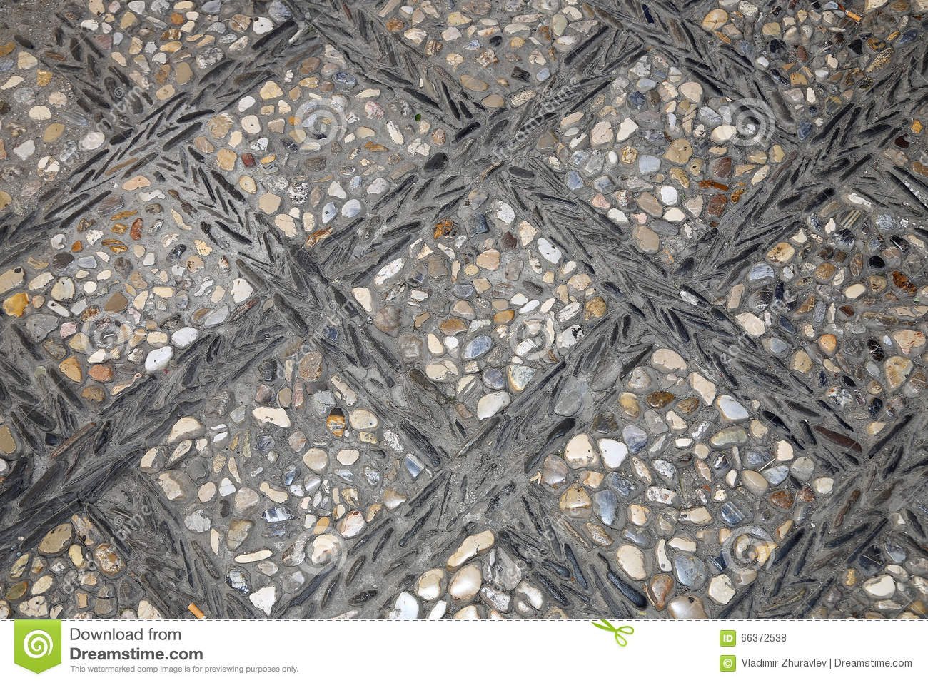 Gravel And Pebble In Mixed Colour Stock Photography
