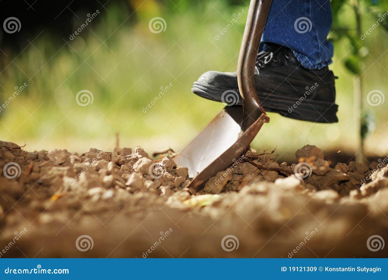 Gravende grond