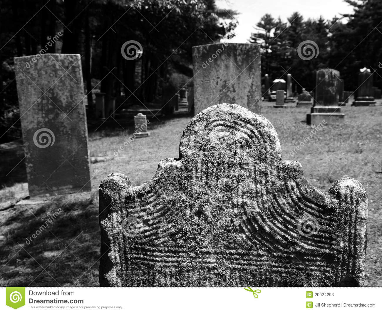 Gravestone carved lines detail stock photos image