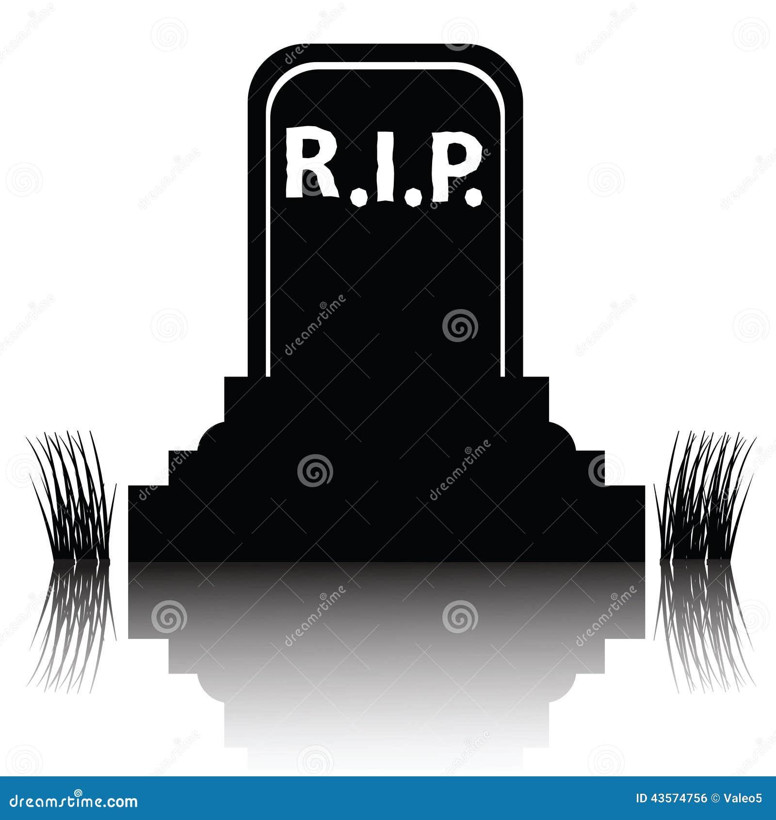 gravestone detailed silhouette stock vector image 43574756
