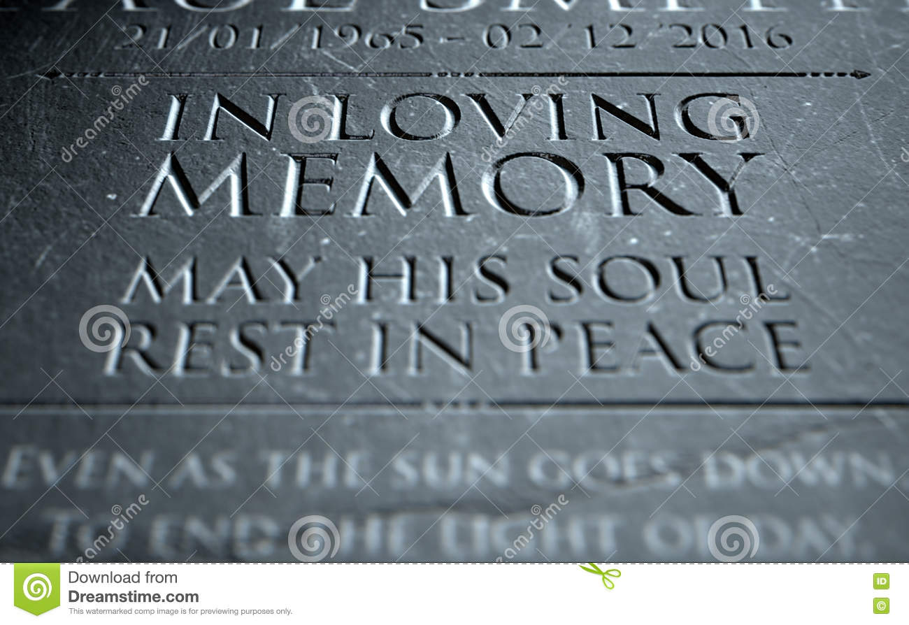 Gravestone In Loving Memory Stock Illustration