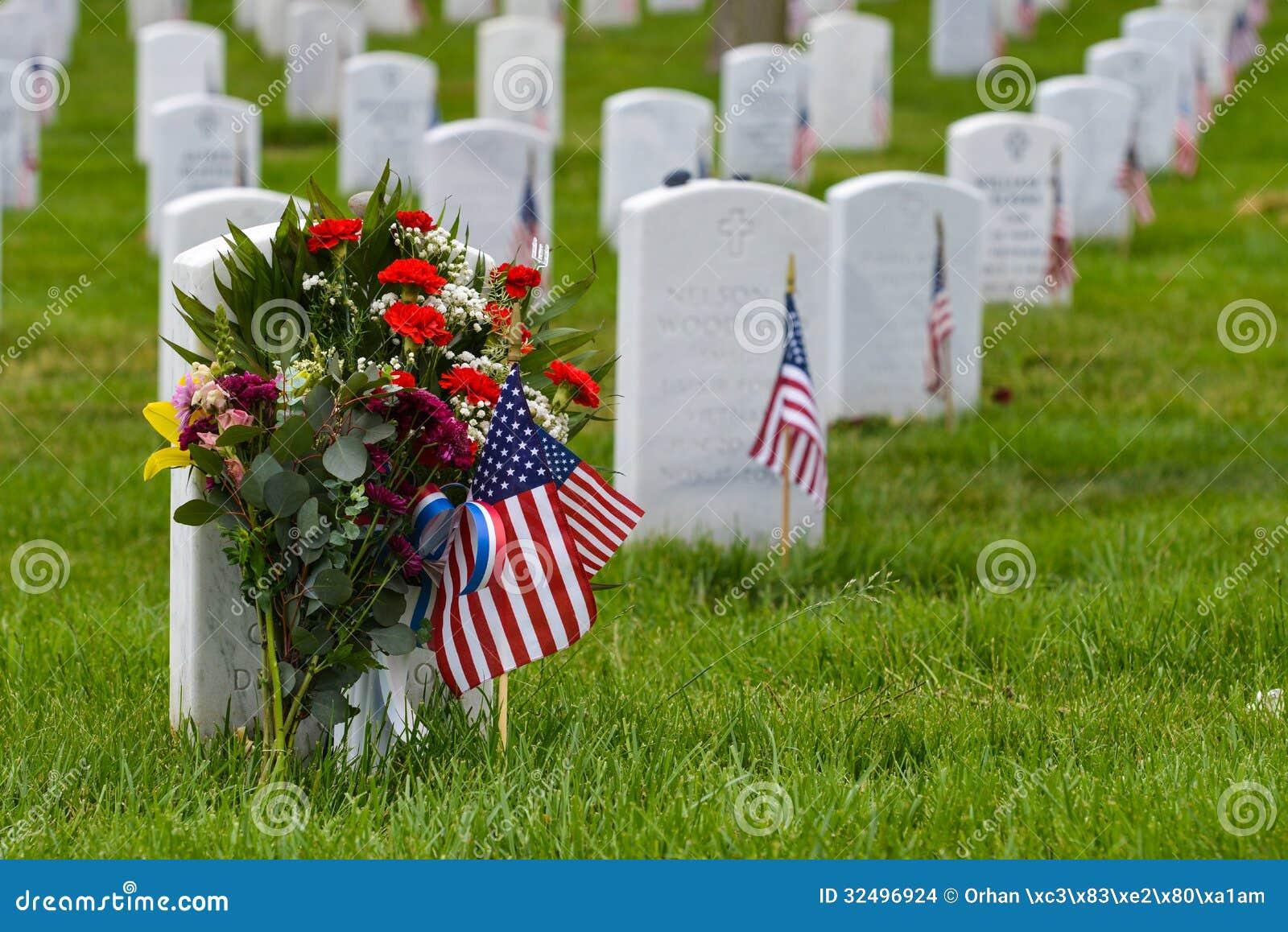 Gravestones in Arlington National Cemetery - Washington DC