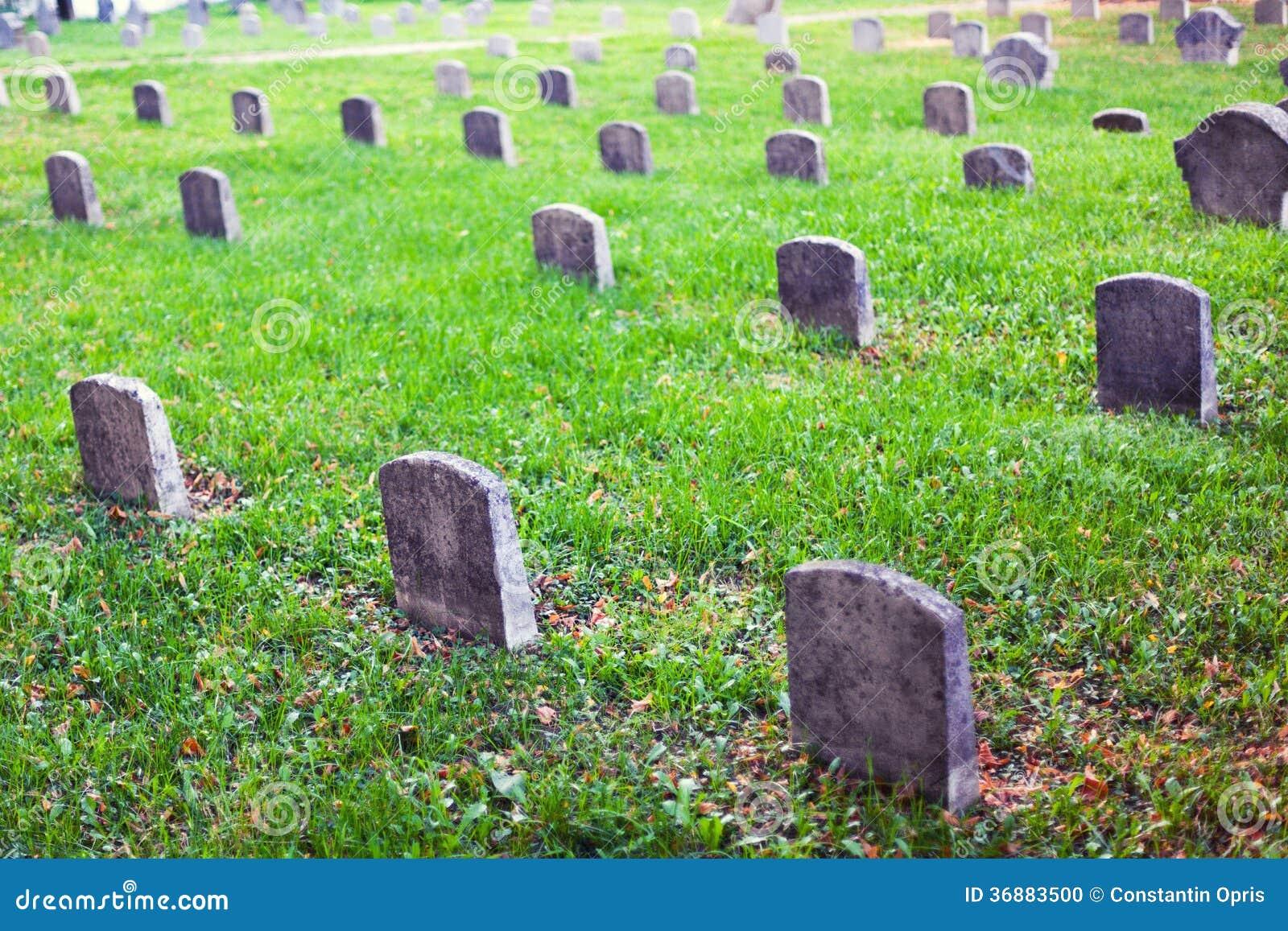 Graveyard tomb stones