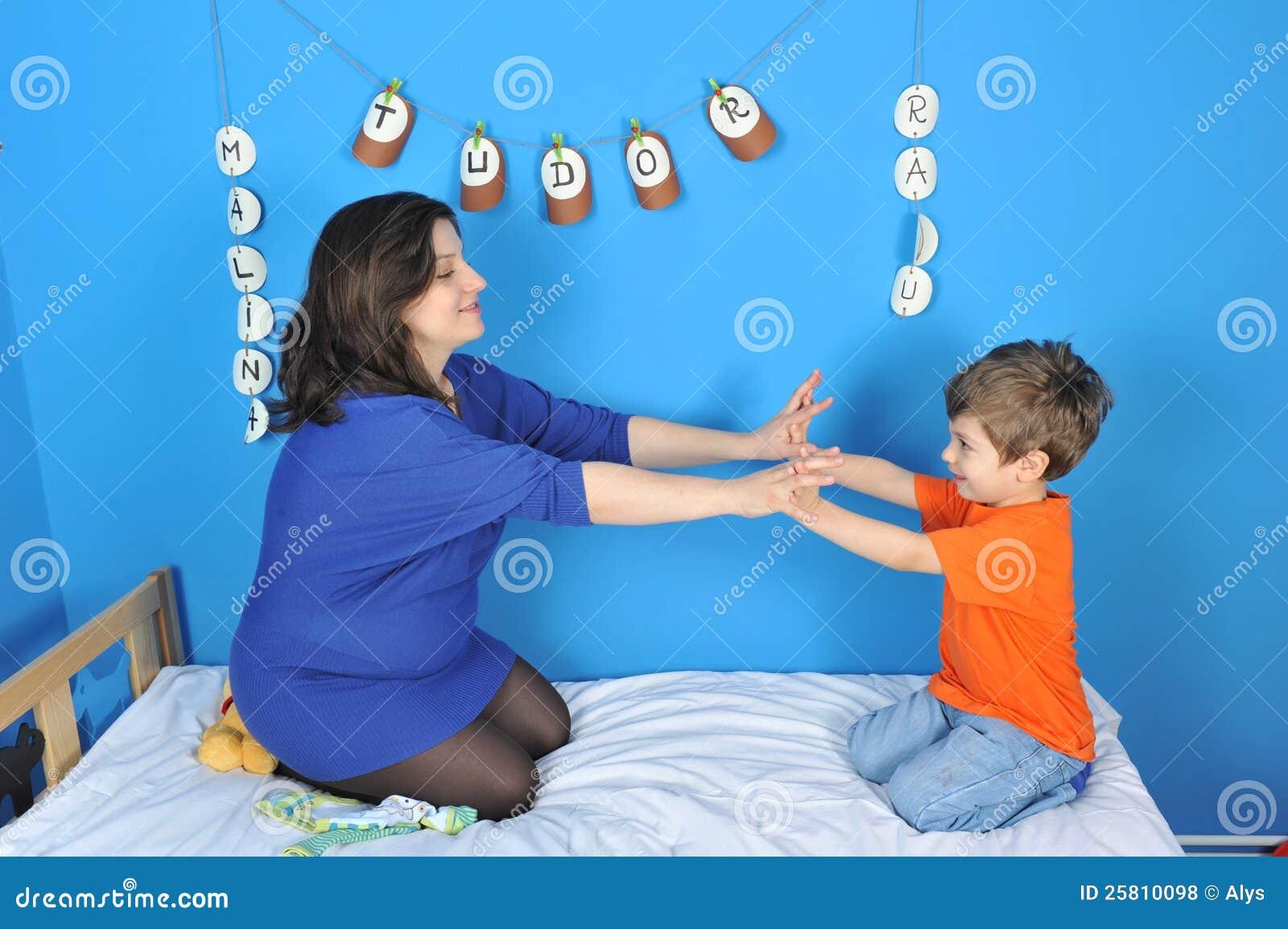 Gravid kvinna och pys