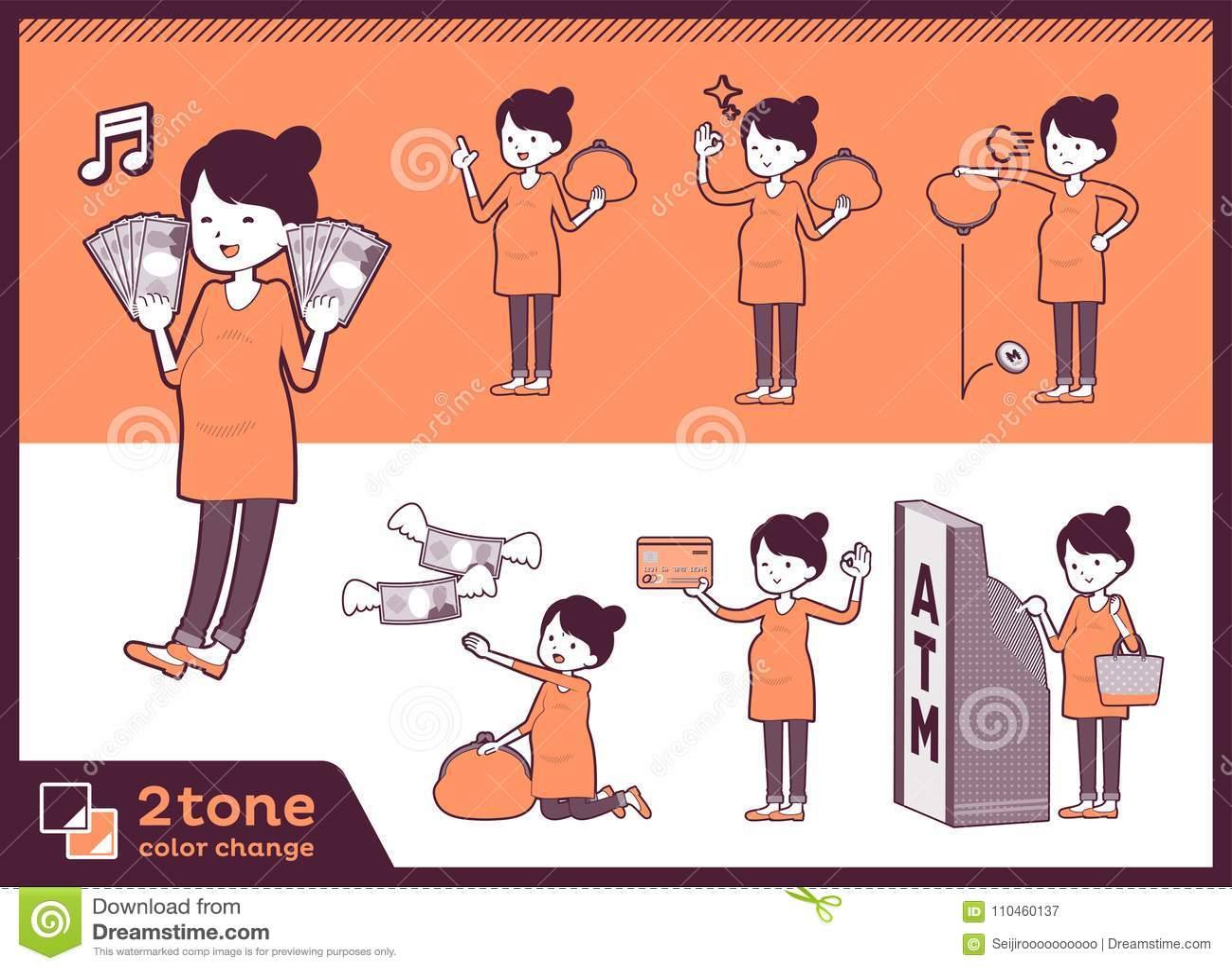 Gravid women_set 11 för typ 2tone