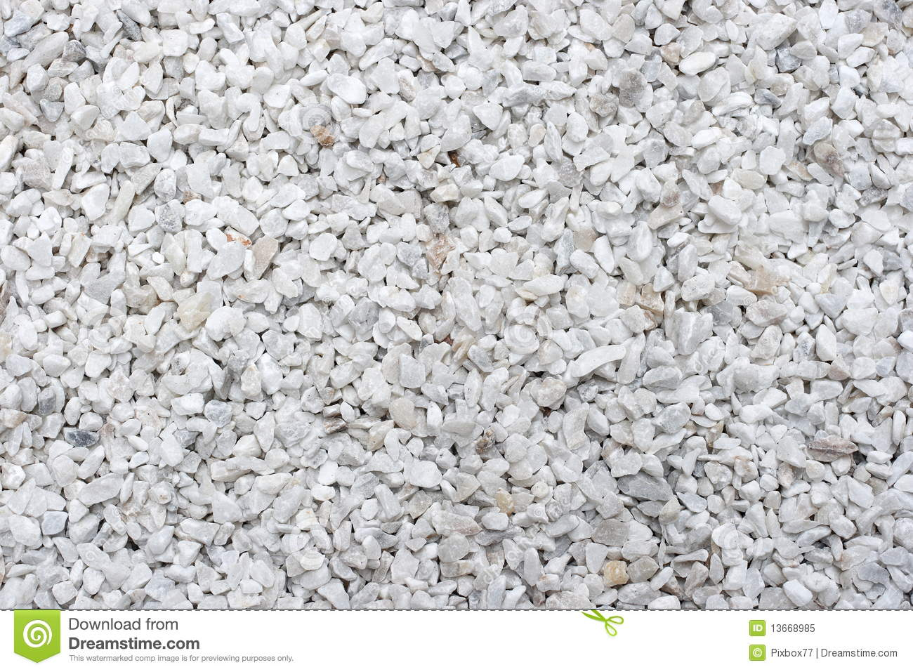 Gravier blanc photo libre de droits image 13668985 for Jardin en gravier blanc